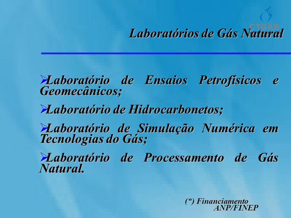 Laboratórios de Gás Natural Laboratório de Ensaios Petrofísicos e Geomecânicos; Laboratório de Ensaios Petrofísicos e Geomecânicos; Laboratório de Hid