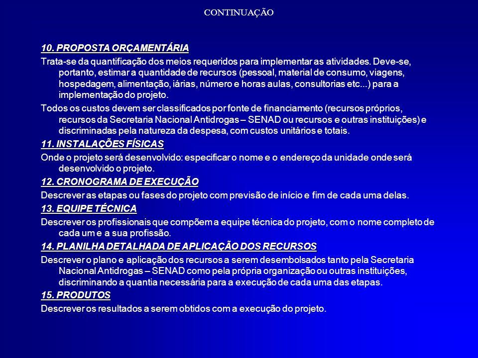 CONTINUAÇÃO 16.REFERÊNCIAS BIBLIOGRÁFICAS 16.