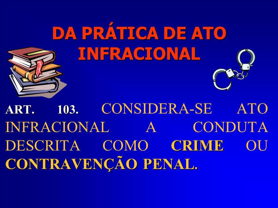 CRIANÇA que praticar ato infracional será submetida a quais medidas .