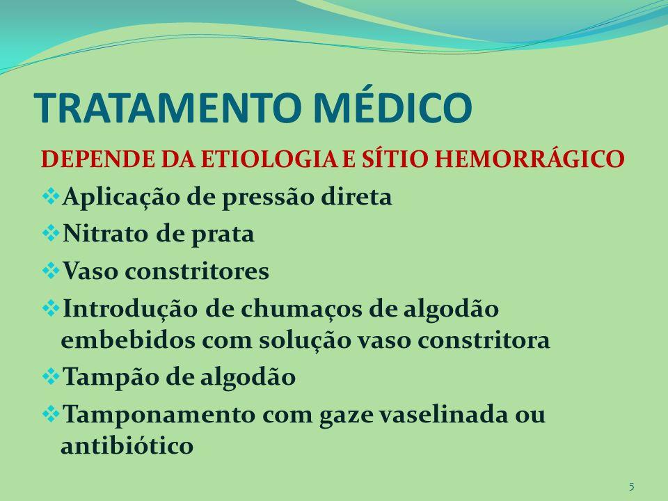 CUIDADOS DE ENFERMAGEM Monitoramento sinais vitais Auxílio no controle do sangramento Fornecimento de lenços Cuba para expectoração do sangue Manter paciente calmo Ensinar o auto cuidado para evitar epistaxe 6