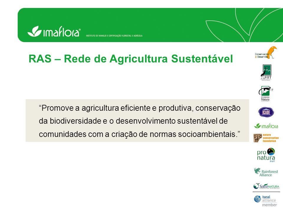 Promove a agricultura eficiente e produtiva, conservação da biodiversidade e o desenvolvimento sustentável de comunidades com a criação de normas soci