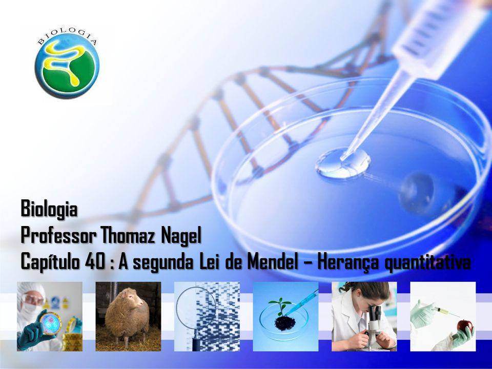 Biologia Professor Thomaz Nagel Capítulo 40 : A segunda Lei de Mendel – Herança quantitativa