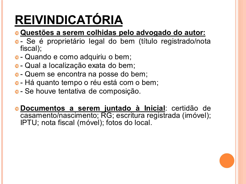 OBRIGAÇÃO DE FAZER CC COMINATÓRIA Questões a serem colhidas pelo advogado do autor: - Quando e como a obrigação foi assumida; - Qual a obrigação que o réu se recusa cumprir; - Se o autor tem conhecimento das razões da recusa; - Se o autor cumpriu a sua parte no contrato (exceção do contrato não cumprido); - Se o réu deu causa à mora; - Se o autor notificou o réu sobre o inadimplemento da obrigação;