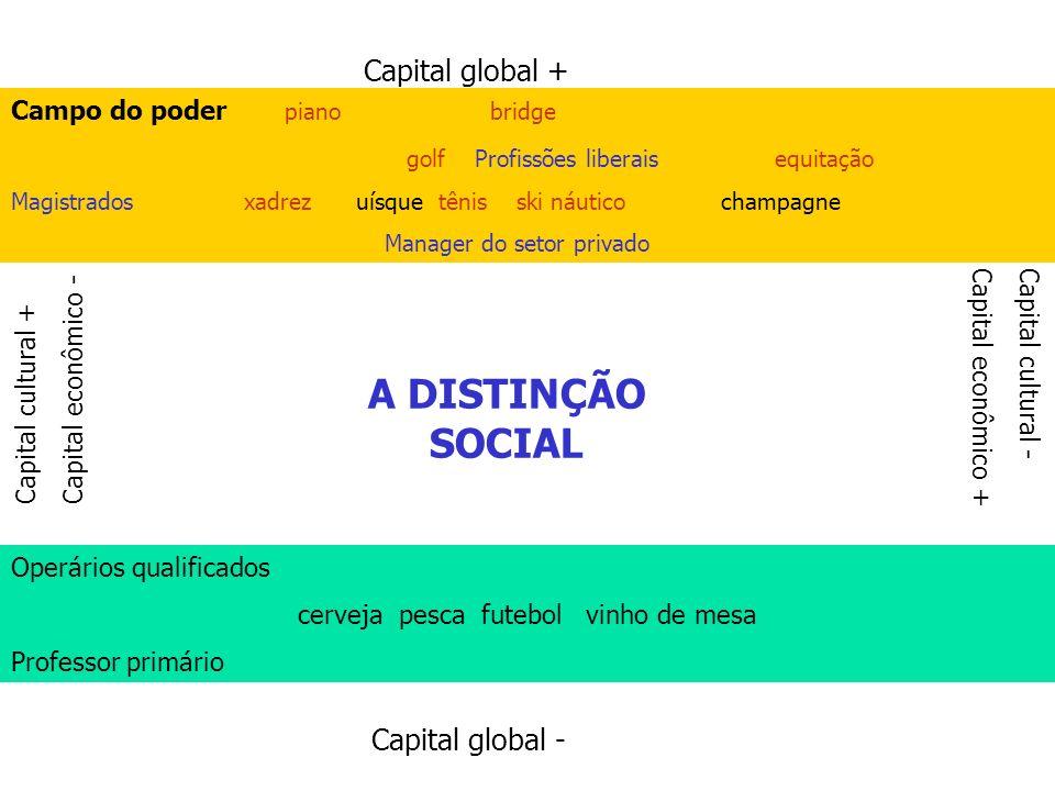 Capital global + Capital global - Capital cultural + Capital econômico - Capital cultural - Capital econômico + Campo do poder piano bridge golf Profi