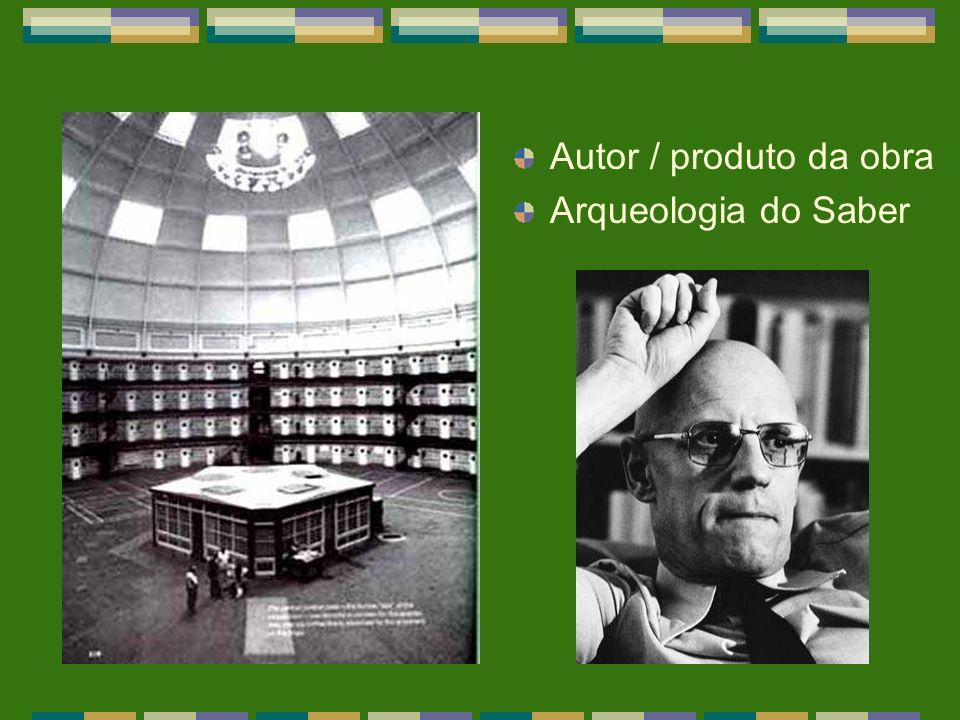 Autor / produto da obra Arqueologia do Saber