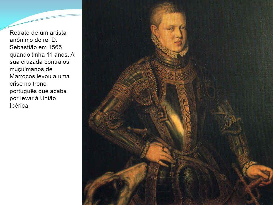 Retrato de um artista anônimo do rei D. Sebastião em 1565, quando tinha 11 anos. A sua cruzada contra os muçulmanos de Marrocos levou a uma crise no t