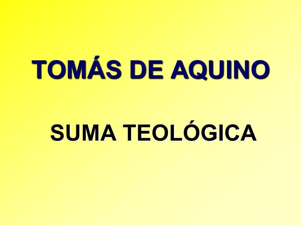 TOMÁS DE AQUINO SUMA TEOLÓGICA