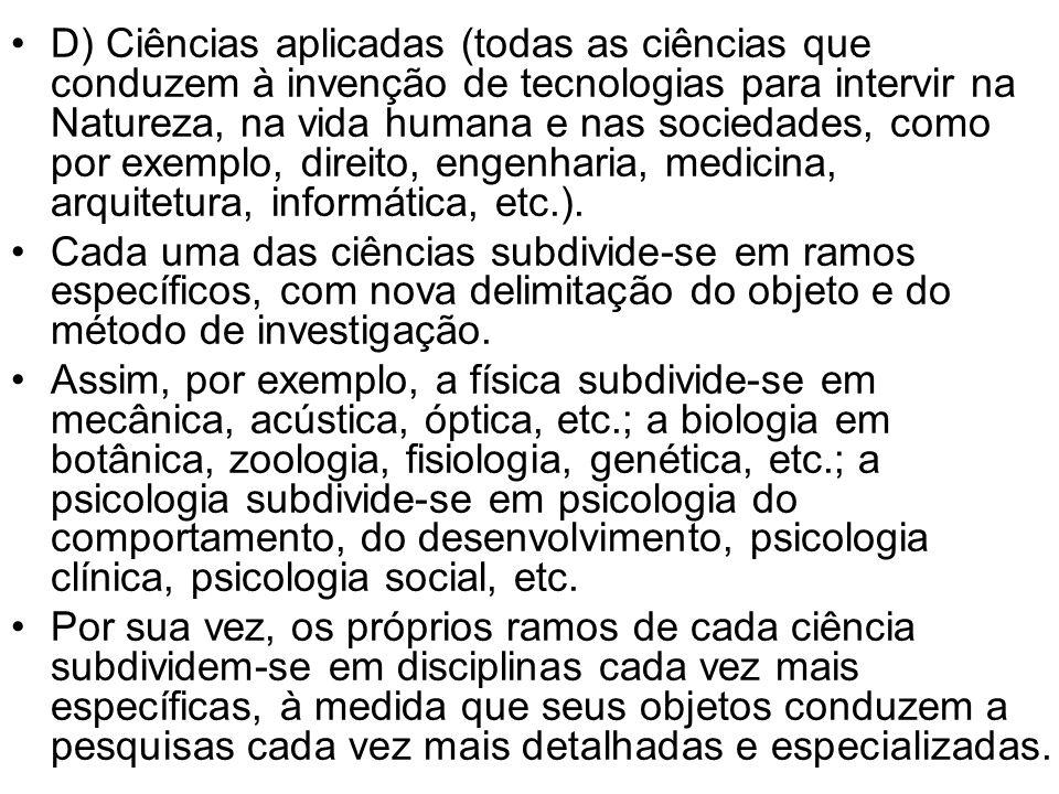 IV As ciências Humanas 1.