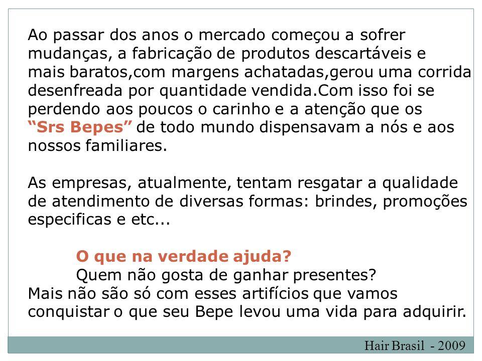 Hair Brasil - 2009 Criar um plano de fidelidade e relacionamento.