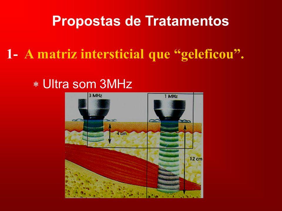 Propostas de Tratamentos 1- A matriz intersticial que geleficou. Ultra som 3MHz