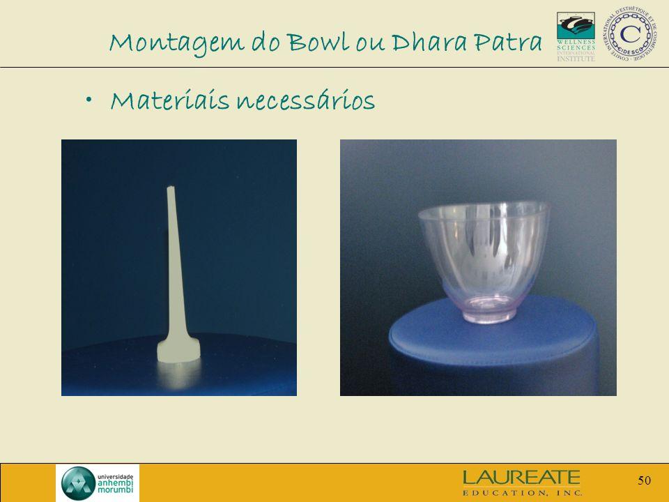 50 Montagem do Bowl ou Dhara Patra Materiais necessários