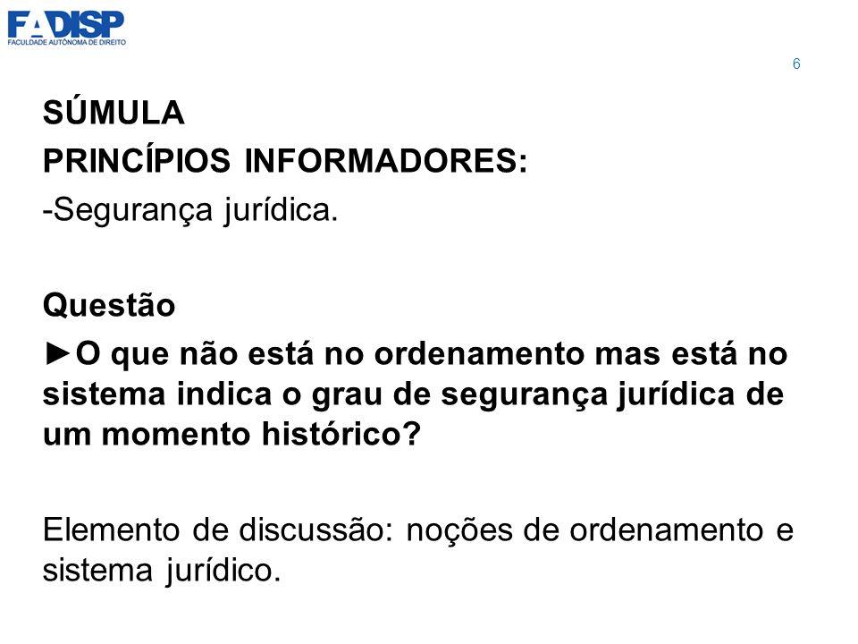 FORÇA DA SÚMULA DO STF Com a Emenda Constitucional n.