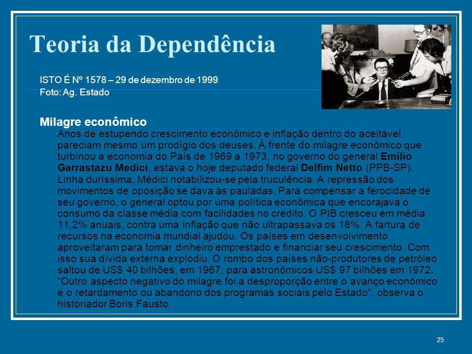 25 Teoria da Dependência ISTO É Nº 1578 – 29 de dezembro de 1999 Foto: Ag.