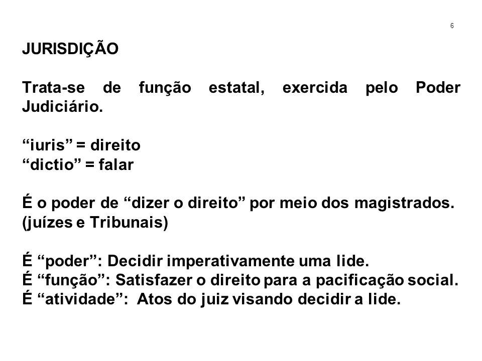 JURISDIÇÃO VOLUNTÁRIA A o pronunciamento do Poder Judiciário sem a existência de uma lide real.