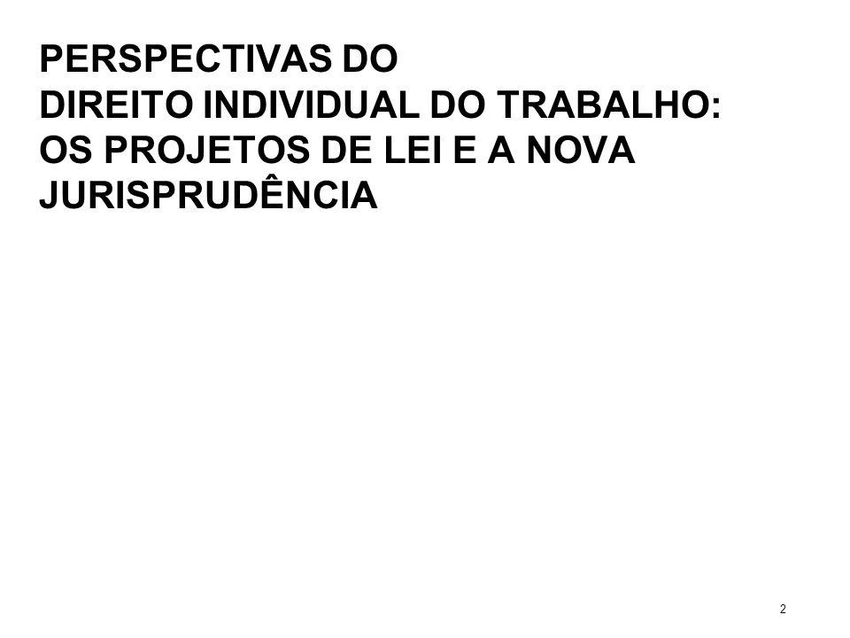 PERSPECTIVAS DO DIREITO INDIVIDUAL DO TRABALHO: OS PROJETOS DE LEI E A NOVA JURISPRUDÊNCIA 2