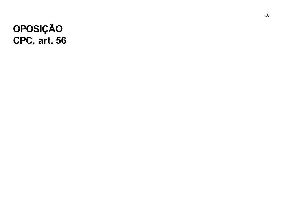 OPOSIÇÃO CPC, art. 56 36