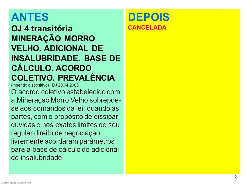 46 ANTES Súmula 331 CONTRATO DE PRESTAÇÃO DE SERVIÇOS.