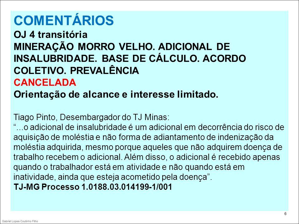 17 COMENTÁRIOS 1 OJ 191 – SDI-1 CONTRATO DE EMPREITADA.