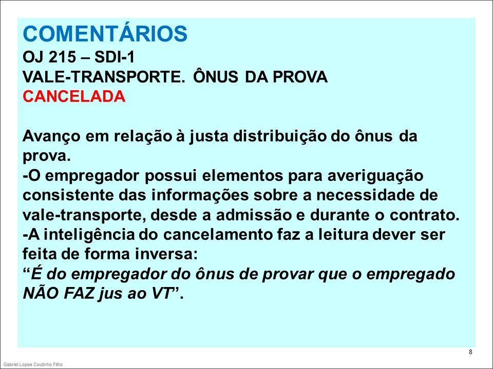 39 ANTES Súmula 85 COMPENSAÇÃO DE JORNADA Res.129/2005, DJ 20, 22 e 25.04.2005 I.