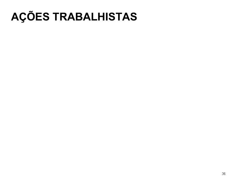 AÇÕES TRABALHISTAS 36