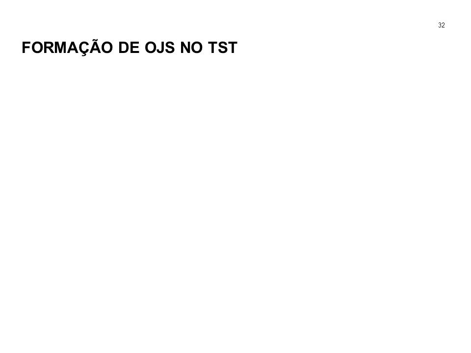 FORMAÇÃO DE OJS NO TST 32