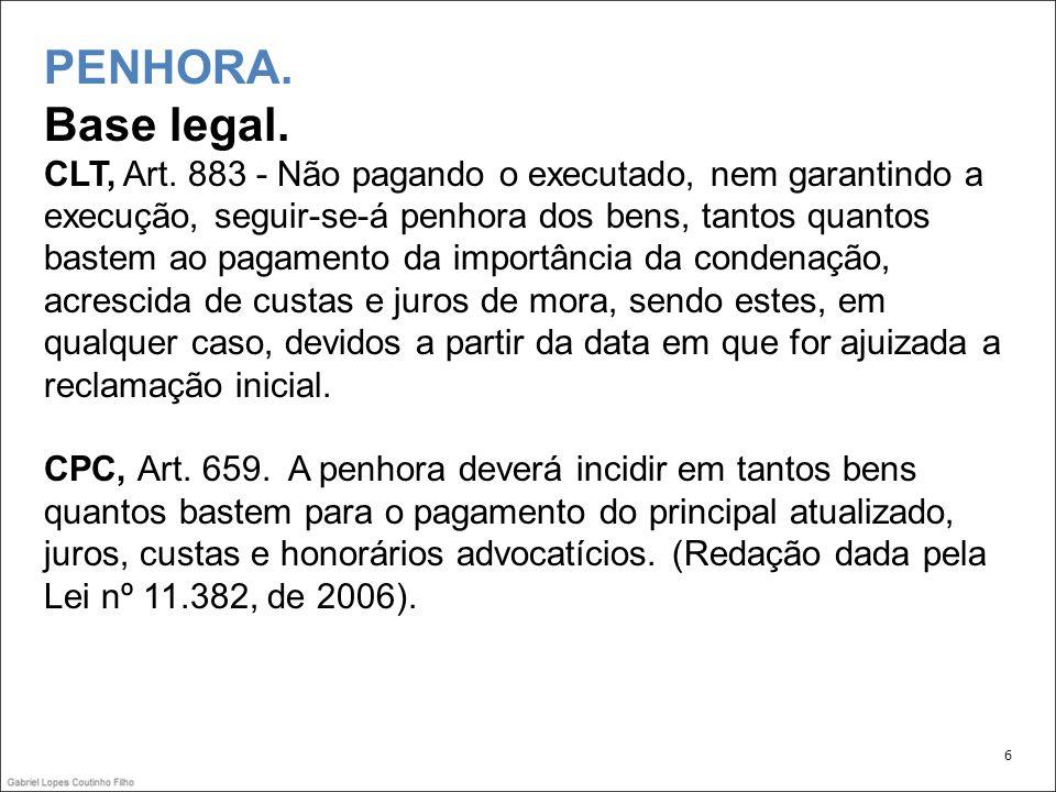 PENHORA.Bem de família. Controvérsia doutrinária: Francisco Oliveira: -Contra a aplicação da lei.