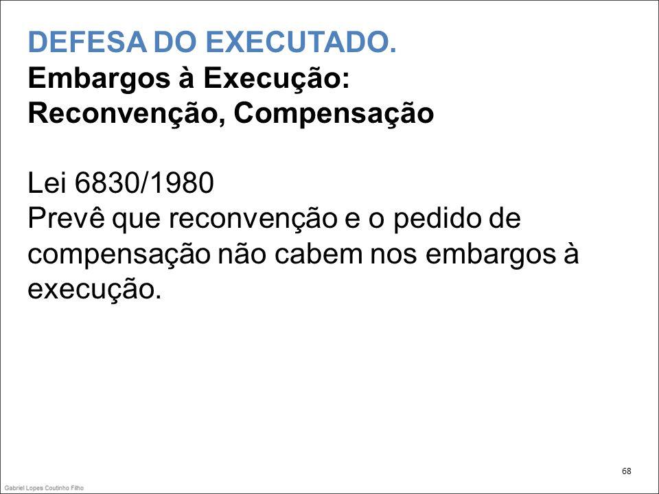 DEFESA DO EXECUTADO.