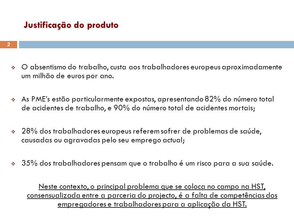 Justificação do produto O absentismo do trabalho, custa aos trabalhadores europeus aproximadamente um milhão de euros por ano. As PMEs estão particula