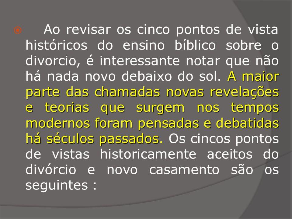 1.O ponto de Vista Patrístico 1. O ponto de Vista Patrístico ( dos Primeiros Pais da Igreja ) 2.