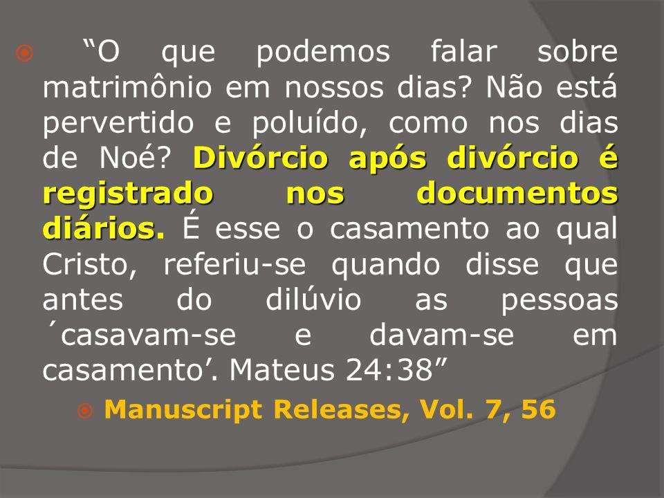 Divórcio após divórcio é registrado nos documentos diários O que podemos falar sobre matrimônio em nossos dias? Não está pervertido e poluído, como no