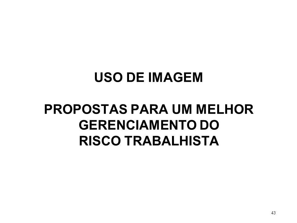 USO DE IMAGEM PROPOSTAS PARA UM MELHOR GERENCIAMENTO DO RISCO TRABALHISTA 43