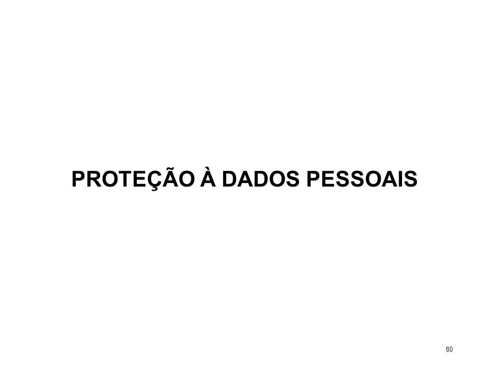 PROTEÇÃO À DADOS PESSOAIS 80