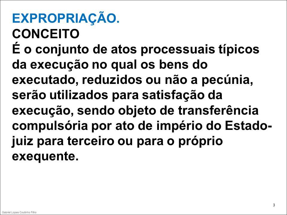 EXPROPRIAÇÃO. CONCEITO Envolve: -Arrematação -Adjudicação -Remição 4