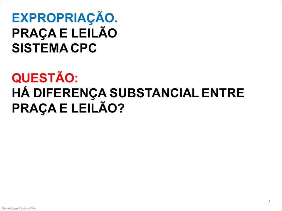 EXPROPRIAÇÃO ADJUDICAÇÃO ANTES DA HASTA PÚBLICA Base: CPC, Art.