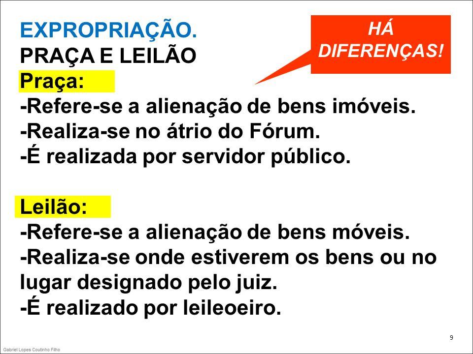 EXPROPRIAÇÃO EDITAL BENS DE VALOR INFERIOR A 60SM (HOJE: R$ 27.100,00).