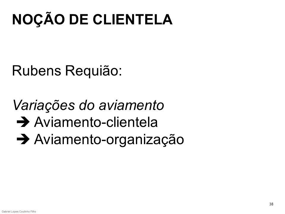 NOÇÃO DE CLIENTELA Rubens Requião: Variações do aviamento Aviamento-clientela Aviamento-organização 38