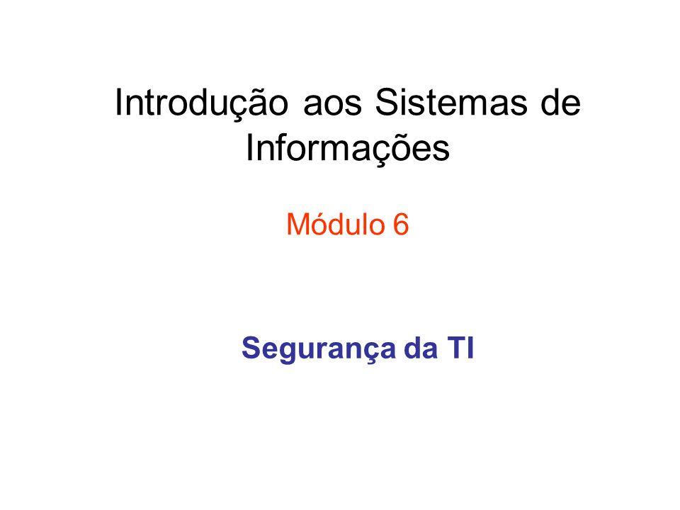 Introdução aos Sistemas de Informações Módulo 6 Segurança da TI