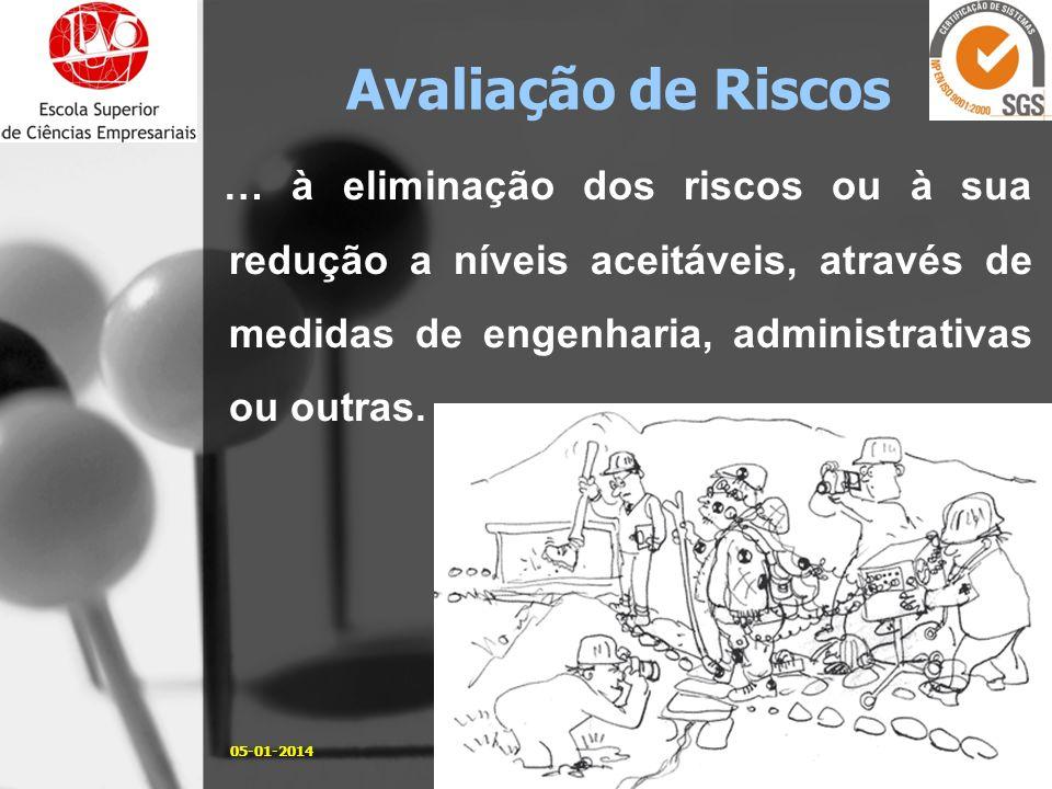 … à eliminação dos riscos ou à sua redução a níveis aceitáveis, através de medidas de engenharia, administrativas ou outras. 05-01-201415José Carlos S