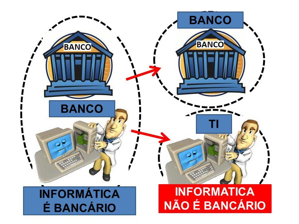 INFORMÁTICA É BANCÁRIO INFORMATICA NÃO É BANCÁRIO BANCO TI