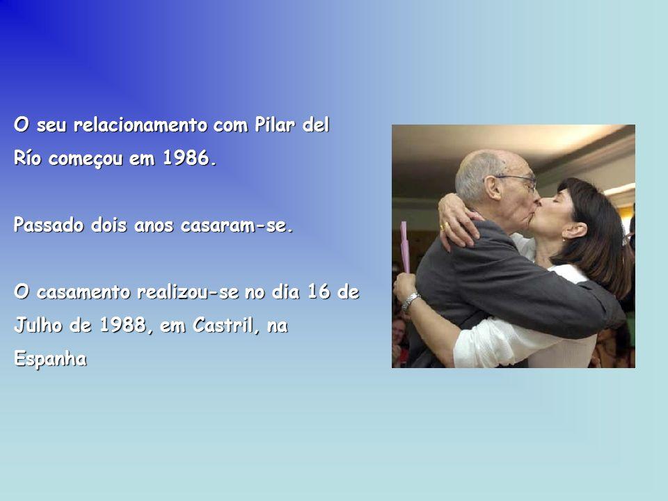 O seu relacionamento com Pilar del Río começou em 1986. Passado dois anos casaram-se. O casamento realizou-se no dia 16 de Julho de 1988, em Castril,