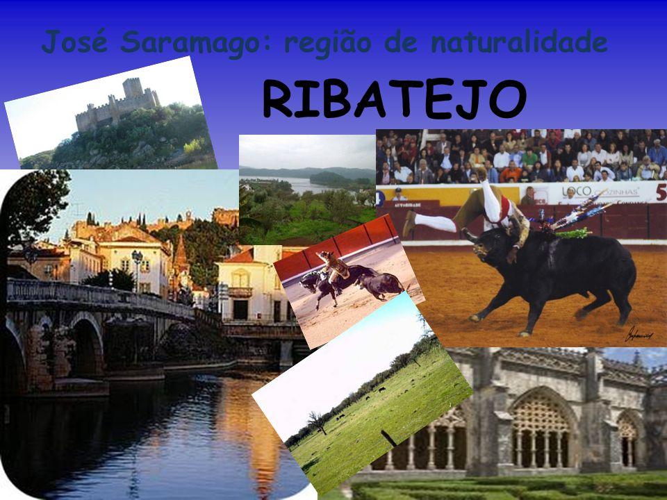 José Saramago: região de naturalidade Região do centro de Portugal que abrange os terrenos da bacia do Tejo, logo tem excelentes aptidões agrícolas.
