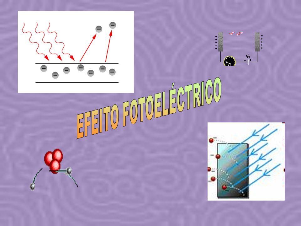 Em conclusão: O efeito fotoeléctrico consiste na emissão de electrões por um metal, quando sobre este se faz incidir radiação electromagnética O número de electrões emitidos depende da intensidade da radiação.