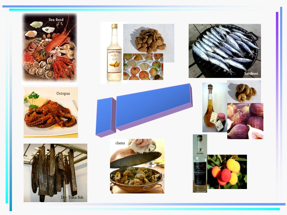 Octopus Dry Tuna fish Sea food Sardines clams