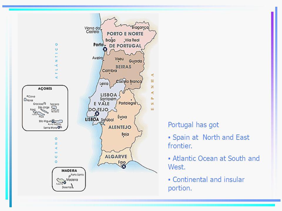 Habitants - 10 million Area - 91.985 km 2 Density: 108,81 habitants/km 2 Capital – Lisboa (Lisbon) Language – Portuguese Religion – Catholic Lisboa Madeira Açores Tavira 340km