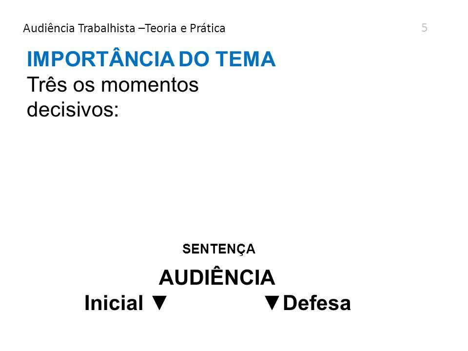 Audiência Trabalhista –Teoria e Prática ANTES DA ENTREGA DA DEFESA DE MÉRITO DEFESA ORAL Pode ser apresentada 20 minutos.