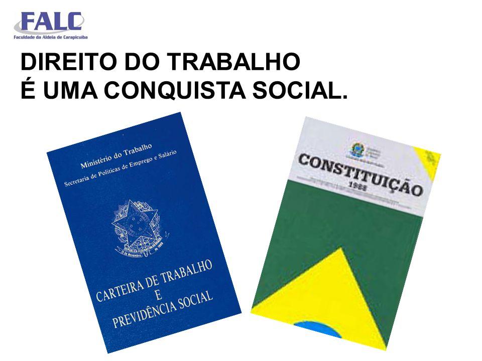 DIREITO DO TRABALHO É UMA CONQUISTA SOCIAL.