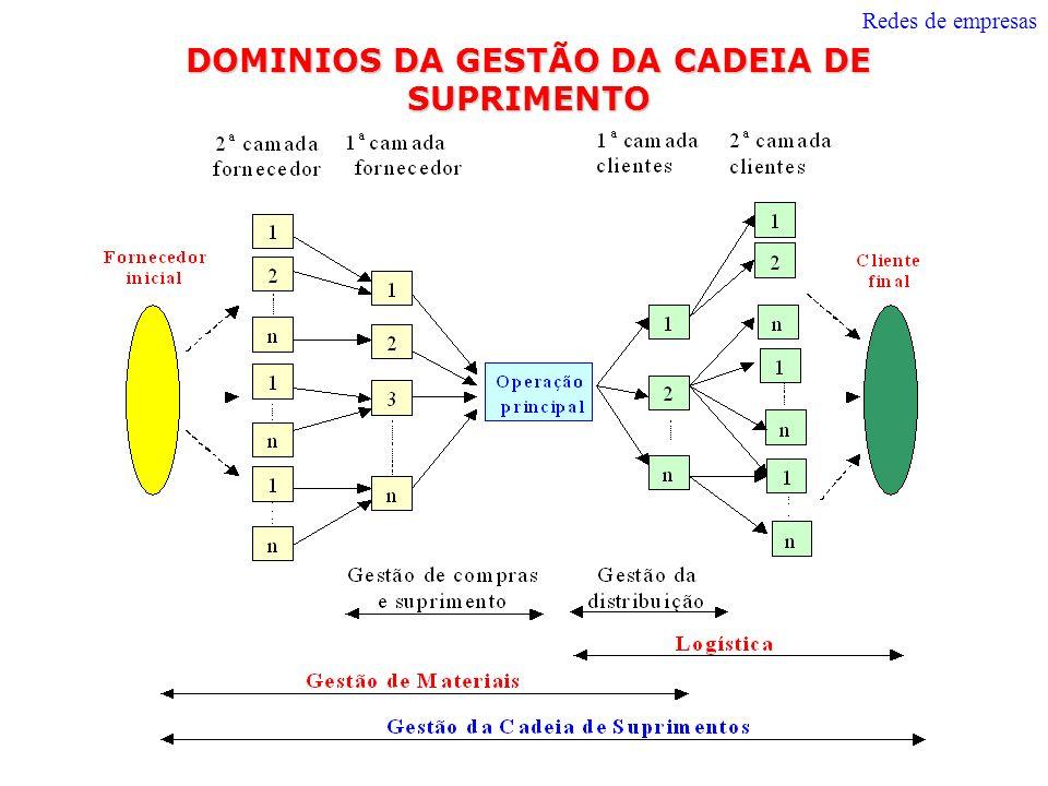 DOMINIOS DA GESTÃO DA CADEIA DE SUPRIMENTO Redes de empresas