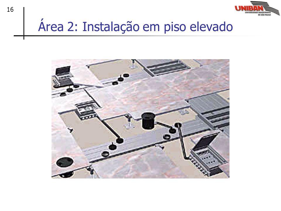 16 Área 2: Instalação em piso elevado