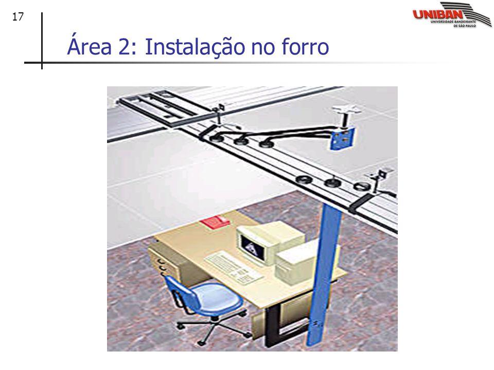17 Área 2: Instalação no forro