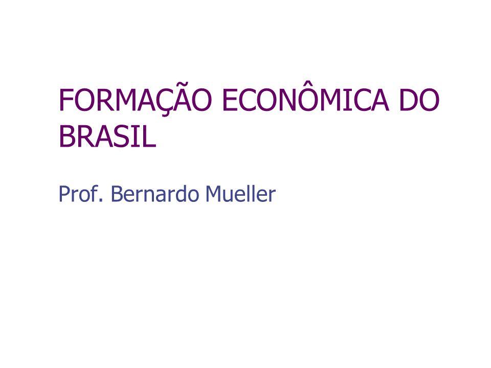 FORMAÇÃO ECONÔMICA DO BRASIL Prof. Bernardo Mueller